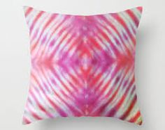 Customised tie-dye pillow  Decorative 18 x 16 by thetiedyer
