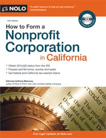 how to start a non profit organization in CA