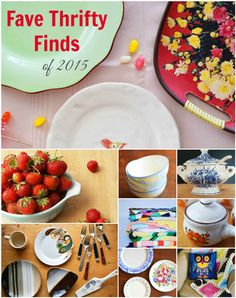 My fave vintage, gifted and thrifted items of 2015 and how they will influence my thrift store shopping this year #vintage #thrifty #thrifted #shopping  #home #decor #dishes #kitchen #thriftstores #opshops