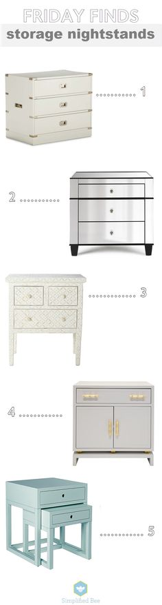 stylish nightstands with storage space // simplified bee