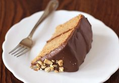 Healthy Peanut Butter Cake with Chocolate Frosting