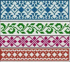 Ideas knitting charts fair isle cross stitch Ideas knitting charts fair isle cross stitch Always wanted to figure out how to knit, however unclear wher. Fair Isle Knitting Patterns, Fair Isle Pattern, Knitting Charts, Loom Patterns, Knitting Stitches, Cross Stitch Borders, Cross Stitch Charts, Cross Stitch Embroidery, Cross Stitch Patterns
