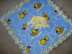 Crochet Edging Fleece Blanket