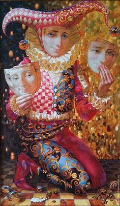 Oil painting / Фантазийные сюжеты ручной работы. Ярмарка Мастеров - ручная работа. Купить Арлекин. Handmade. Маскарад, красивый подарок