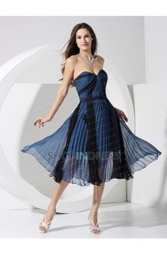 Chiffon Zip up Tea Length Black Prom Dress