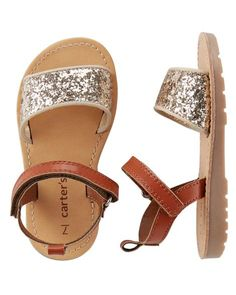 a8ea2d06fe84 Baby Girl Carter s Glitter Sandals from Carters.com. Shop clothing  amp   accessories from