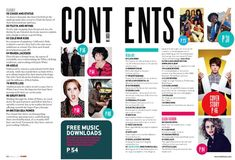two pages contents page