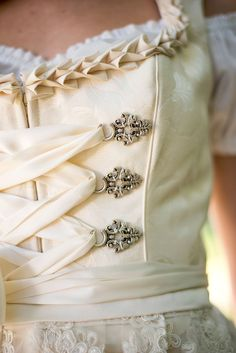 Bridal Dirndl with Semi-Sweetheart Neckline tracht, Drindl Dress, German Wedding, Beaded Lace, Traditional Dresses, Victorian Fashion, Marie, Neckline, Lace Up, My Style