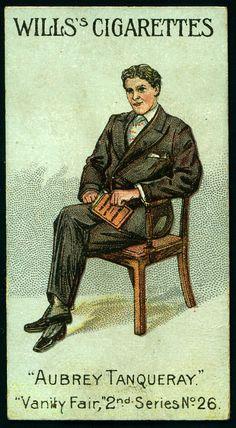"""Cigarette Card - Mr George Alexander. """"Vanity Fair 2nd Series""""."""