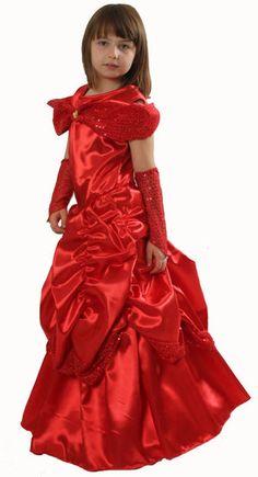 Lange rode prinsessenjurk kind  #prinses #prinsessenjurk #jurk #rodeprinsessenjurk