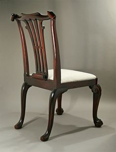 GEORGE II IRISH CUBAN MAHOGANY CARVED SIDE CHAIR, C1735; M. Ford Creech Antiques & Fine Arts