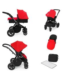 Ickle Bubba Stomp V2 All In One Black Frame Travel System - Red