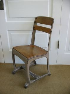 I have several small old wooden school chairs in the studio - holding things on shelves and occasionally making their way into my window display.