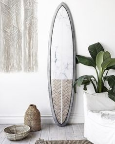 """worldofsw: """"ÉTÉ SANS FIN' // The last few months – I have been working on a an art collection – that I have chosen to display on surfboards, because to me, the surfboard represents escapism. ⠀⠀ Like swimming through a wave just before it is about to..."""