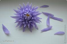 Мастер-класс Флористика искусственная Лепка Хризантема из холодного фарфора Фарфор холодный фото 33