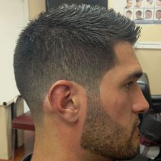 Military Haircut - Brush Cut with Fade