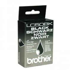 Brother Original Black Singlepack Ink LC50  100% Genuine Brother LC50BK 850pgs Black Ink Cartridge. For use with the following printers:  Brother MFC-830 Brother MFC-840 Brother MFC-860 Brother MFC-7400J BrotherMFC-9200J Brother MFC-850