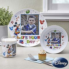 Awww ... this would make their birthday party so special! You can personalize these plates, bowls and mugs with your favorite photo! Great for any Disney Family! This site has tons of other great Disney gifts that you can't find anywhere else! #Disney