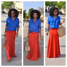 Today's Post! Oversized shirt + Maxi Skirt!