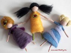 Waldorf inspired needle felted fairies/girls