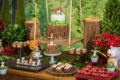 Cakescape from an Enchanted Forest Birthday Party on Kara's Party Ideas | KarasPartyIdeas.com (19)