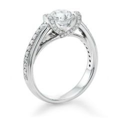 Diamond Engagement Ring in 18K Gold / White - GIA Certified, Round, 1.34 Carat, K Color, SI2 Clarity Natural Diamond. $4360.00