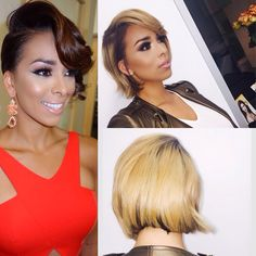 Gloria Govan new look... love the blonde & the cut!!!!