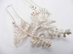 Acclaimed South African sculptor and jeweller Nic Bladen.  Bracken earrings 2013 Sterling silver