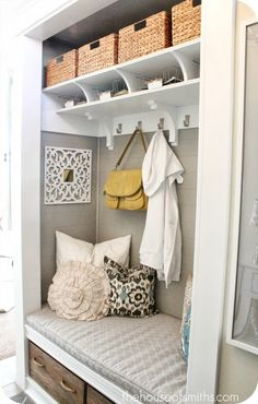 Mad about Organizing: ORGANIZING YOUR FOYER | Organized Home | Laundry Room