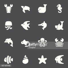 vector file of marine life icons icons pinterest icon set