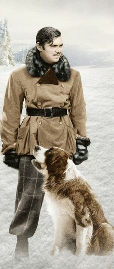 Clark Gable in Call Of The Wild (I don't need no stinking North Face)