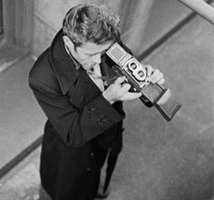 James Dean with his Rolleiflex  www.facebook.com/adrianshieldsphoto