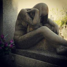 Sculpture in La Almudena' s cemetery