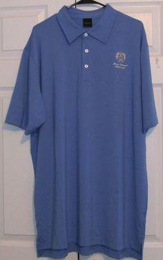 Dunning Men's Golf Shirt, XXL, Surf Blue, 93% Polyester, 7% Spandex,, NWT #Dunning #PoloShirt