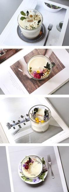 Diy Candles Ideas : #candle #dried-flower #candledesign