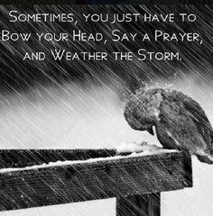 Pray through the storm