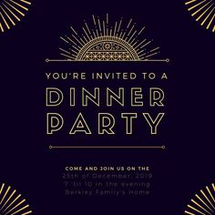 Black and Gold Art Deco Great Gatsby Invitation . Use this customizable Black and Gold Art Deco Great Gatsby Invitation template and find more professional