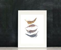 Brown Feathers by Jenn Stuhl on Etsy