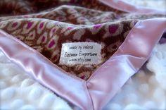 Satin Minky Lovie by EiermanEmporium on Etsy, $15.00