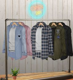 Male Overshirt for The Sims 4 by Tea-Wurst