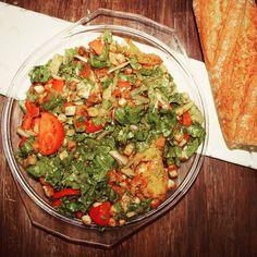 ENSALADA DE PECHUGAS EN POLENTA  http://wwwreposteriabego.blogspot.com.es/2015/10/sopa-minestrone-especiada-ensalada-con.html?m=1