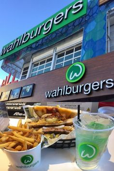 You can grab a bite to eat at Wahlburgers in Las Vegas. The burger chain was created by the famous Wahlberg family is a fun & tasty place to eat. Las Vegas Eats, Las Vegas Food, Vegas Fun, Las Vegas Nevada, Las Vegas Restaurants, Las Vegas Hotel Deals, Las Vegas Vacation, Vacation Places, California Vacation