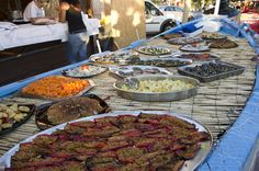 Some of the Calabrian specialities available at the Chilli Festival, Diamante, Calabria