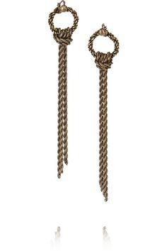 Lanvin  Burnished gold-tone earrings