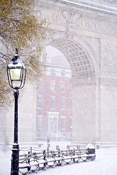 New York City Feelings - Washington Square Park Arch by...