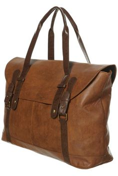 $98.00 I love the look of this Topshop Tan Contrast Buckle Luggage Bag. I just wish it were leather and not 100% polyurethane.