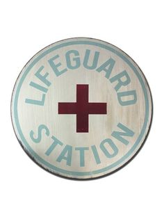 Lifeguard Station Hand Painted Vintage by barnowlprimitives