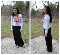 An easy, 15 minute maxi skirt that anyone can make!