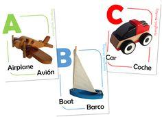 Spanglish ABC Flashcards  {Free Printable}