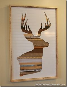 Rustic Deer Head Silhouette Wall Art